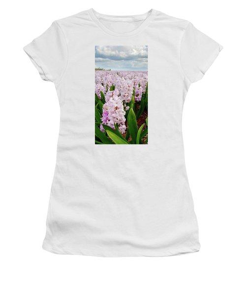 Pink Hyacinth  Women's T-Shirt (Junior Cut) by Mihaela Pater