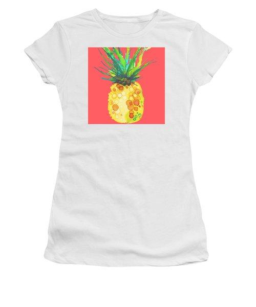 Pink Pineapple Daquari Women's T-Shirt (Junior Cut) by Marla Beyer