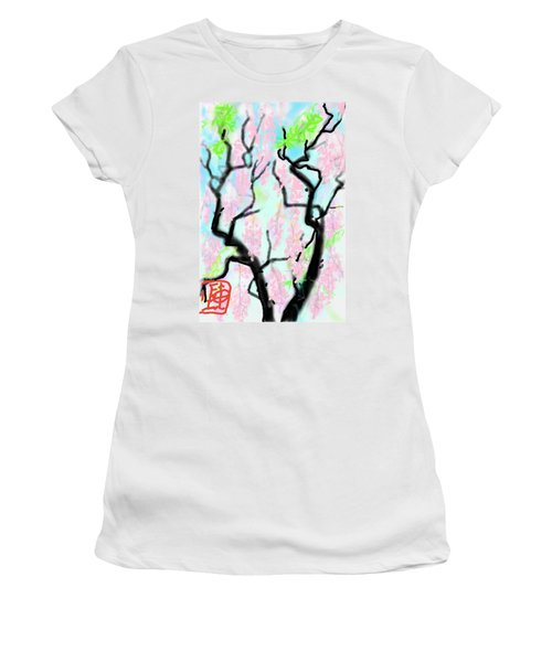 Pink Wisteria Women's T-Shirt (Athletic Fit)