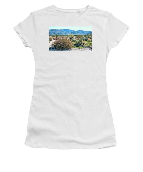Pinyon Mtns Desert View Women's T-Shirt (Junior Cut) by Daniel Hebard