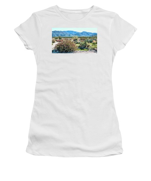 Pinyon Mtns Desert View Women's T-Shirt (Athletic Fit)