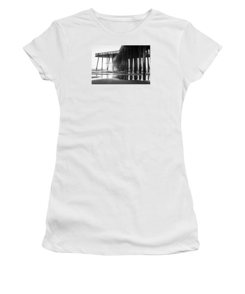 Pismo Pier Black And White Sunset Women's T-Shirt