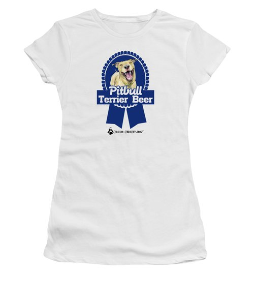 Pit Bull Terrier Beer Women's T-Shirt (Athletic Fit)