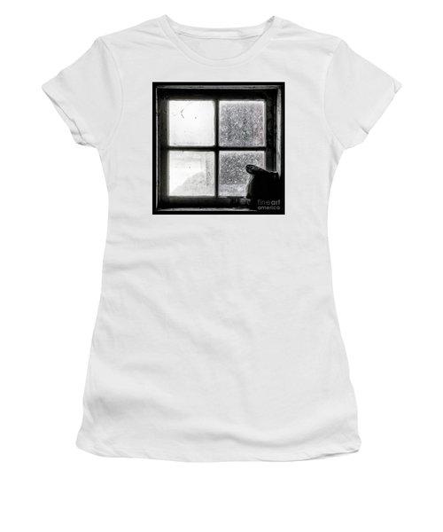 Women's T-Shirt (Junior Cut) featuring the photograph Pitcher In The Window by Brad Allen Fine Art