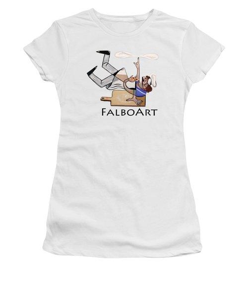 Pizza Break T-shirt Women's T-Shirt (Junior Cut) by Anthony Falbo
