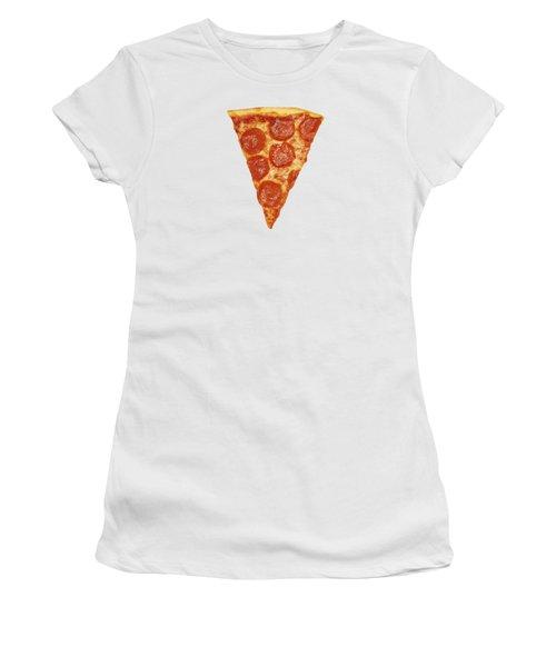 Pizza Slice Women's T-Shirt (Junior Cut) by Diane Diederich