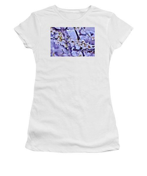 Plum Blossoms In Snow Women's T-Shirt (Athletic Fit)