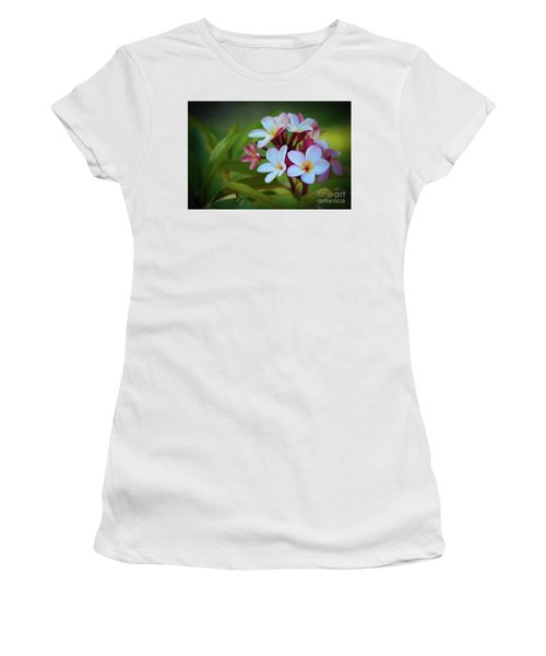 Women's T-Shirt (Junior Cut) featuring the photograph Plumeria Sunset by Kelly Wade