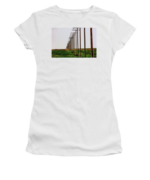 Poles In A Row Women's T-Shirt (Athletic Fit)