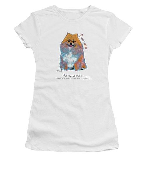Pomeranian Pop Art Women's T-Shirt