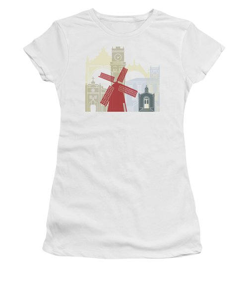 Ponta Delgada Skyline Poster Women's T-Shirt
