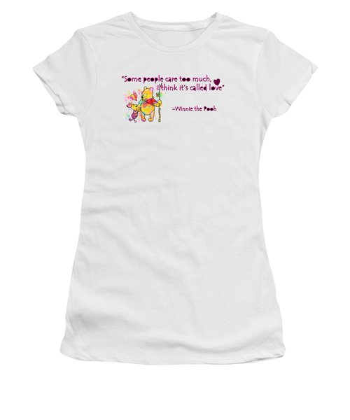 Pooh - Cute Love Quotes 1 Women's T-Shirt