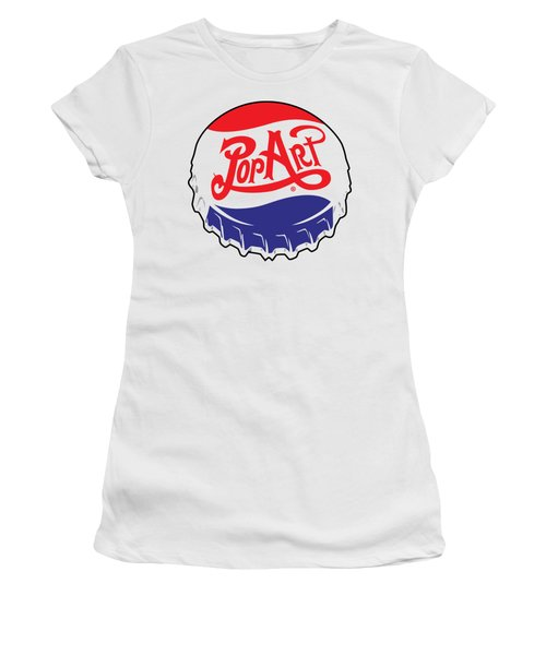 Pop Art Bottle Cap Women's T-Shirt (Athletic Fit)