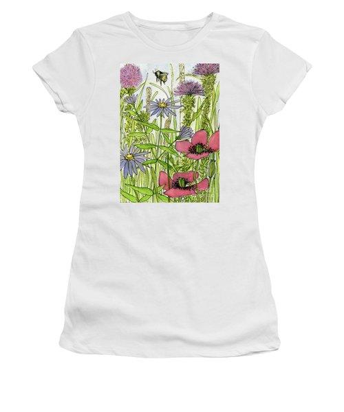 Poppies And Wildflowers Women's T-Shirt