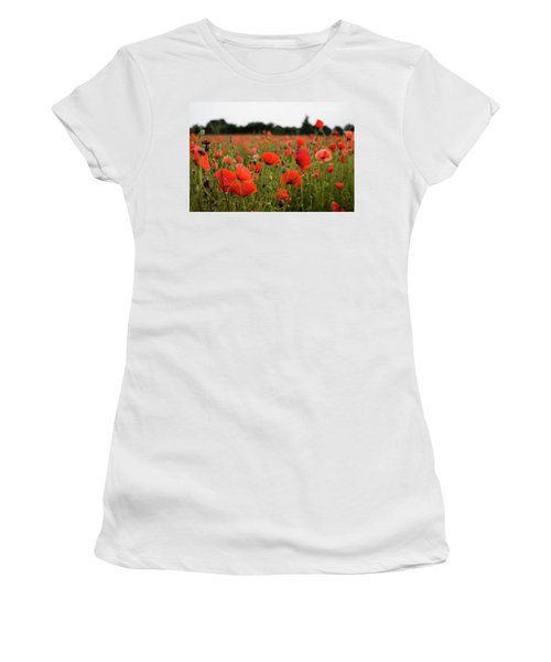 Poppies Women's T-Shirt (Athletic Fit)
