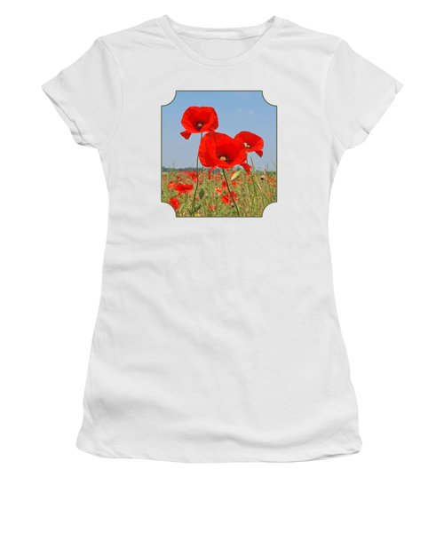 Poppy Fields 4 Women's T-Shirt (Athletic Fit)