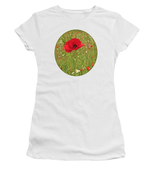 Poppy With Bud Women's T-Shirt