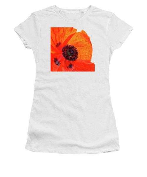 Poppy With Raindrops 2 Women's T-Shirt