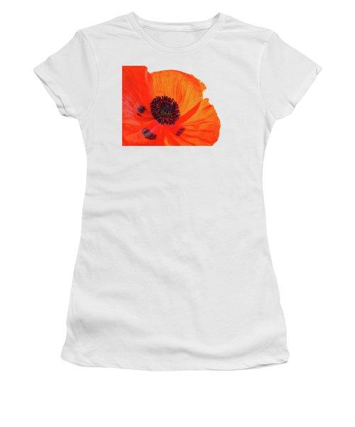 Poppy With Raindrops 3 Women's T-Shirt