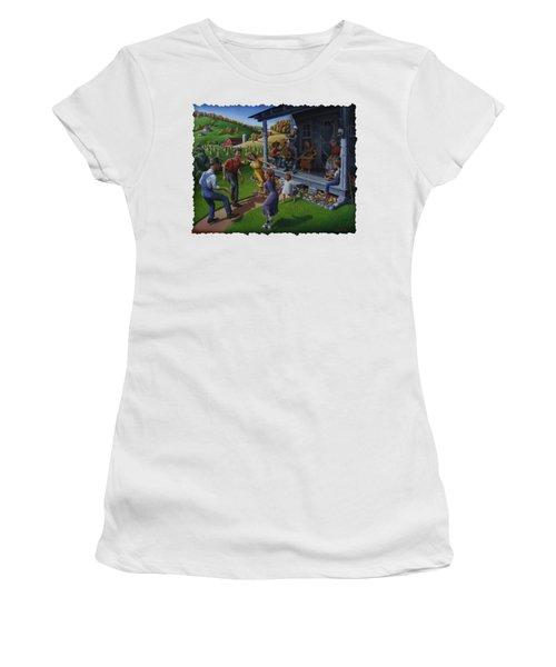 Porch Music And Flatfoot Dancing - Mountain Music - Appalachian Traditions - Appalachia Farm Women's T-Shirt