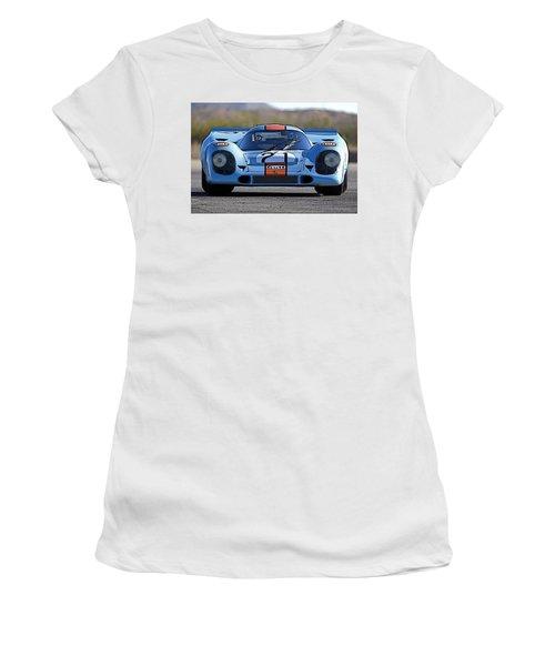 Porsche 917 Shorttail Women's T-Shirt (Junior Cut) by Thomas M Pikolin