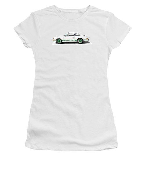 Porsche Carrera Rs Illustration Women's T-Shirt (Junior Cut) by Alain Jamar
