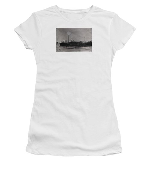 Port Talbot Steel Works Women's T-Shirt (Junior Cut) by Carole Robins