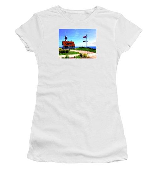 Portland Head Lighthouse Maine--crop Women's T-Shirt (Athletic Fit)