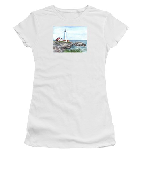 Portland Head Lighthouse Maine Usa Women's T-Shirt (Athletic Fit)