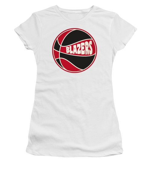 Portland Trail Blazers Retro Shirt Women's T-Shirt (Athletic Fit)