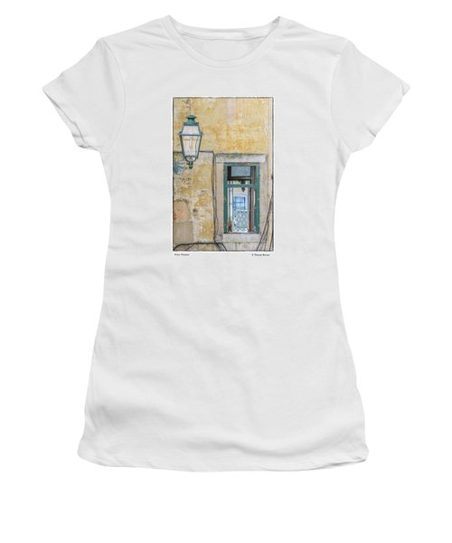Women's T-Shirt (Junior Cut) featuring the photograph Porto Window by R Thomas Berner