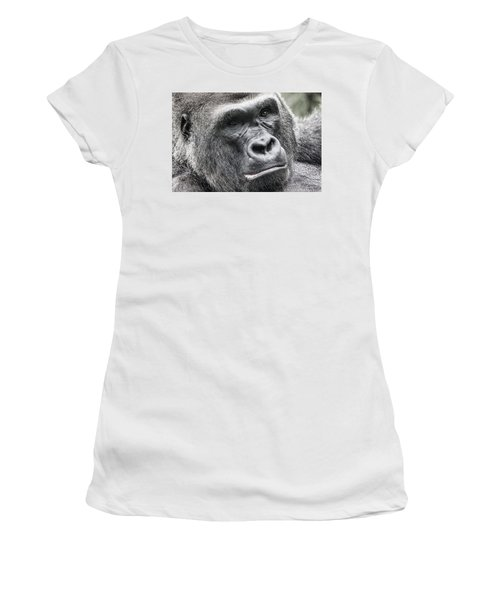 Portrait Of A Gorilla Women's T-Shirt (Athletic Fit)