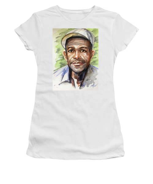 Portrait Of A Man Women's T-Shirt (Athletic Fit)