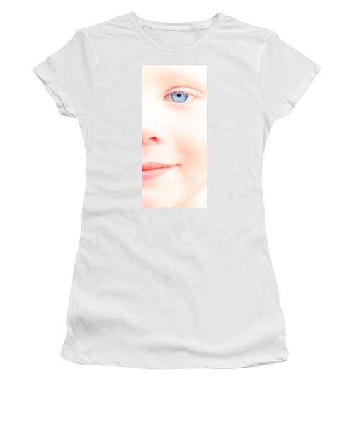Portrait Of A Smile Women's T-Shirt (Junior Cut) by Bob Orsillo