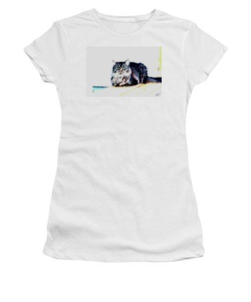 Portrait Of Maine Coon, Mattie Women's T-Shirt