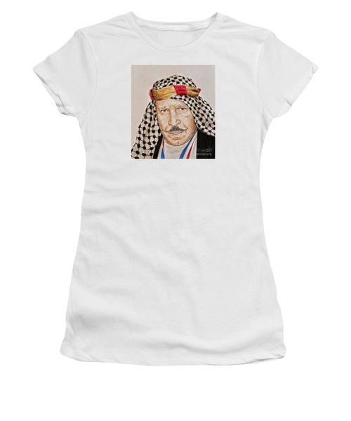 Portrait Of The Pro Wrestler Known As The Iron Sheik Women's T-Shirt (Athletic Fit)