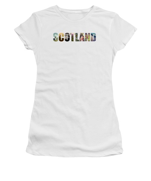 Postcard For Scotland Women's T-Shirt (Junior Cut) by Mr Doomits