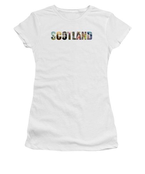 Postcard For Scotland Women's T-Shirt (Athletic Fit)