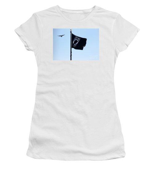 Pow Mia Women's T-Shirt (Athletic Fit)