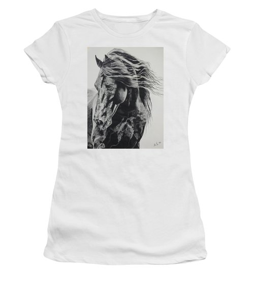 Power Of Horse Women's T-Shirt (Athletic Fit)