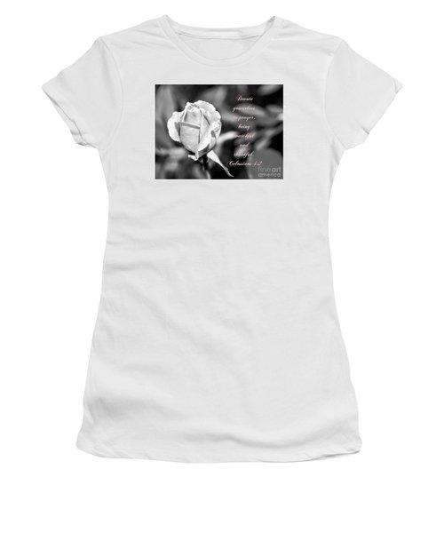 Women's T-Shirt (Junior Cut) featuring the photograph Prayer by Debby Pueschel