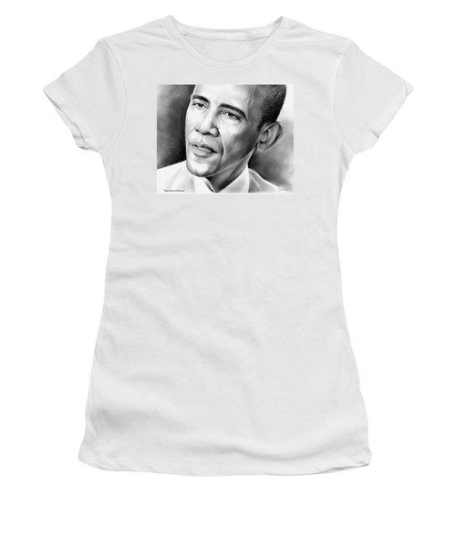 President Barack Obama Women's T-Shirt (Athletic Fit)