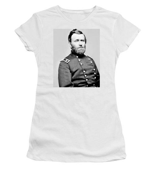 President Ulysses S Grant In Uniform Women's T-Shirt (Athletic Fit)