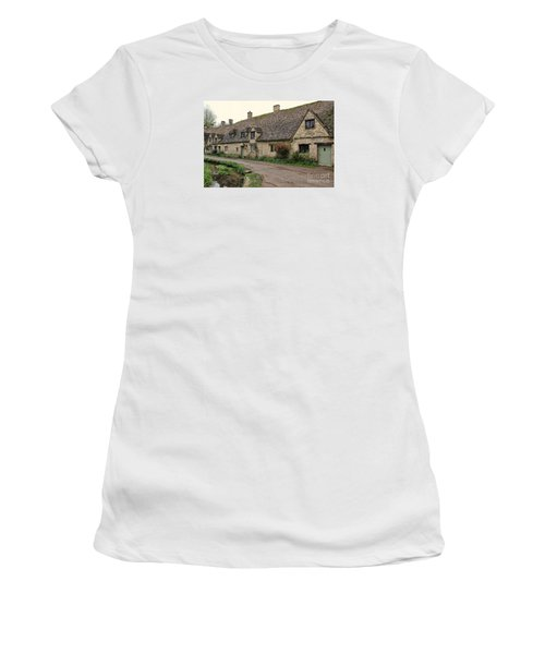 Pretty Cottages All In A Row Women's T-Shirt (Athletic Fit)