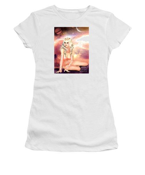 Pretty In Peach Galaxies Women's T-Shirt