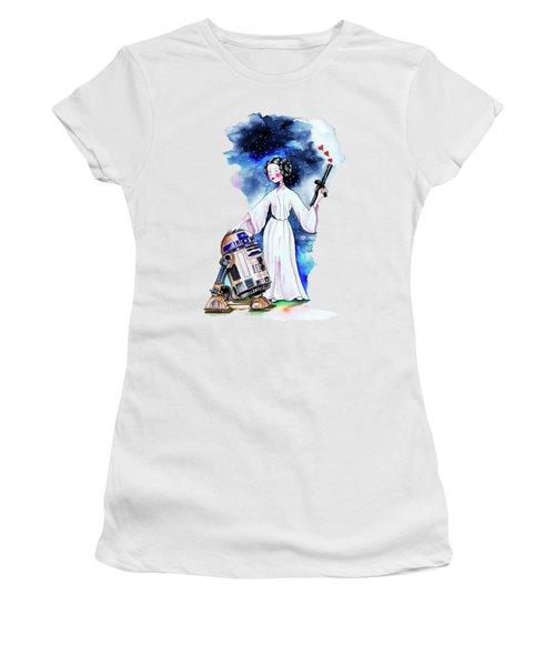 Princess Leia Illustration Women's T-Shirt (Athletic Fit)