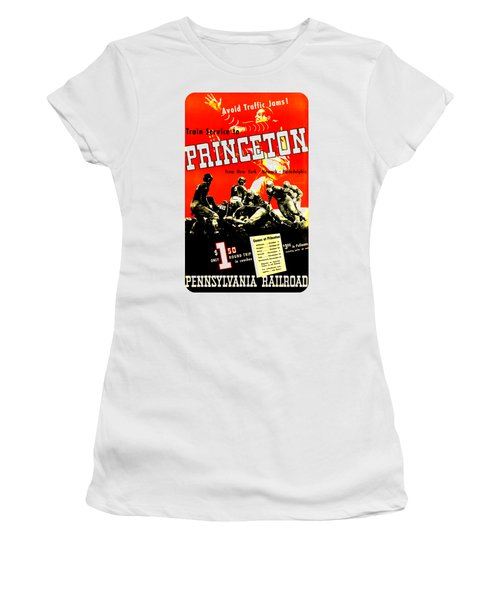 Princeton University Football 1936 Pennsylvania Railroad Women's T-Shirt (Junior Cut) by Peter Gumaer Ogden Collection
