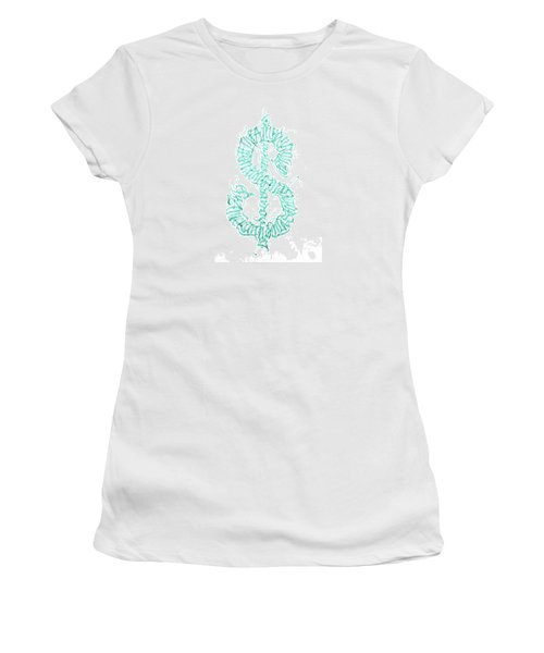 Prosperity. Calligraphy Abstract Women's T-Shirt (Athletic Fit)