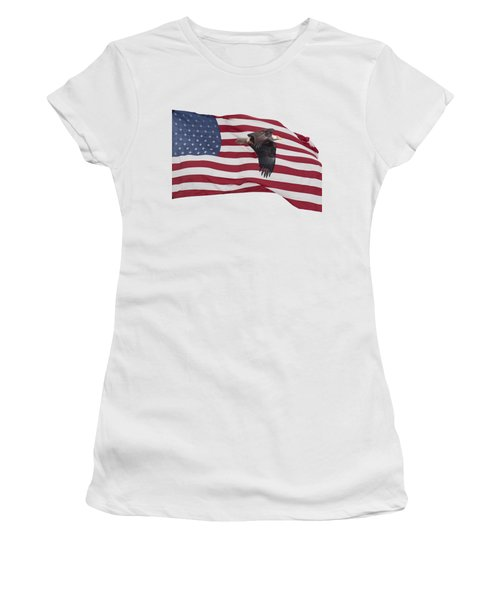 Proud To Be An American Women's T-Shirt (Junior Cut) by Thomas Young