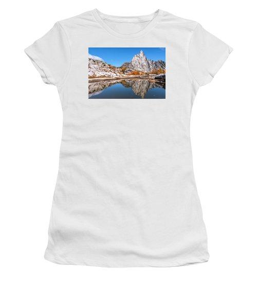Prusik Peak Reflected In Gnome Tarn Women's T-Shirt